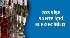 Bitlis'te 703 şişe sahte içki ele geçirildi
