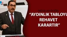 Adana Milletvekili Abdullah Doğru açıklamalarda bulundu