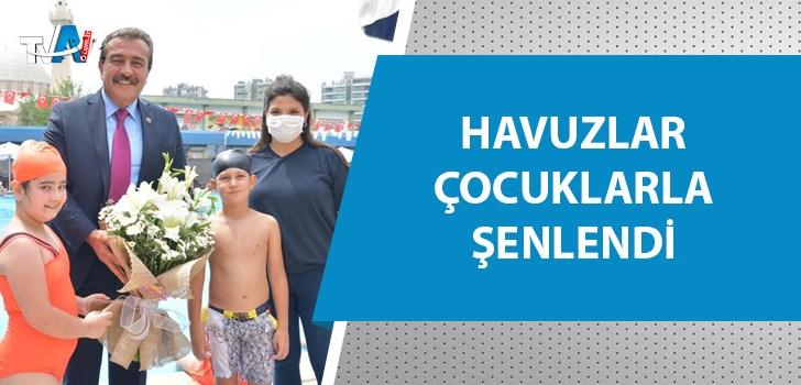 Çukurova Belediyesi'nin çocuklara yönelik yüzme kursları başladı