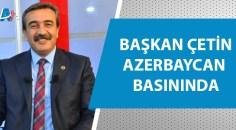 Başkan Çetin'in mesajı Azerbaycan basınında yankı buldu
