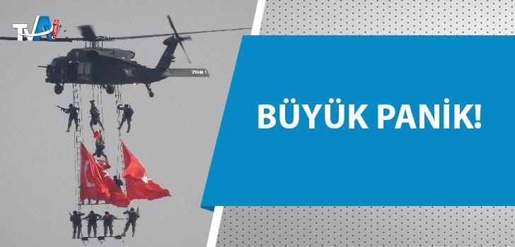 Helikopterleri görenler savaş çıktı sandı