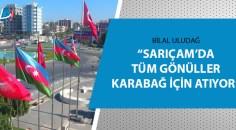 Sarıçam Azerbaycan bayrakları ile donatıldı
