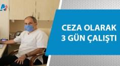 Maskesiz sağlık merkezine girdi!