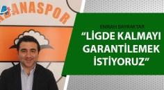 Adanaspor Teknik Direktörü Bayraktar açıkladı