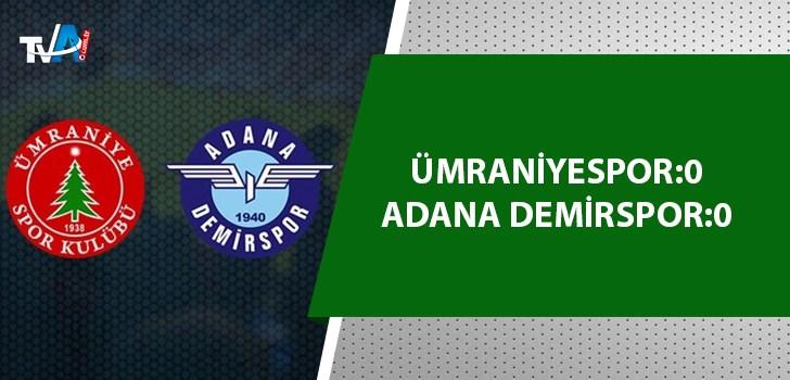 Adana Demirspor 1 puana razı oldu!