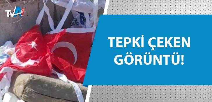 Çöpten Türk bayrağı çıkardılar!