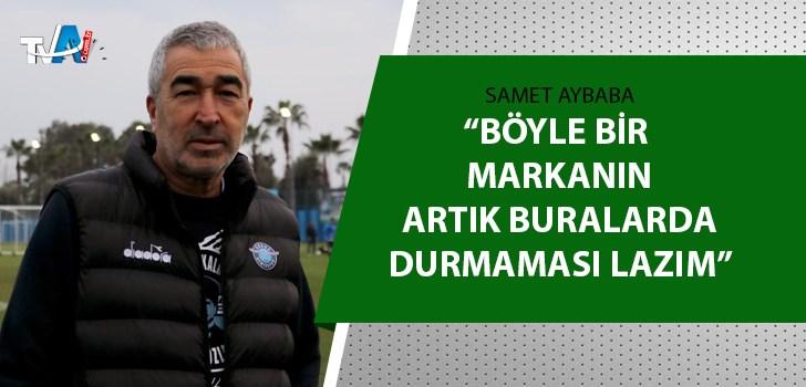 Adana Demirspor Teknik Direktörü Aybaba açıkladı
