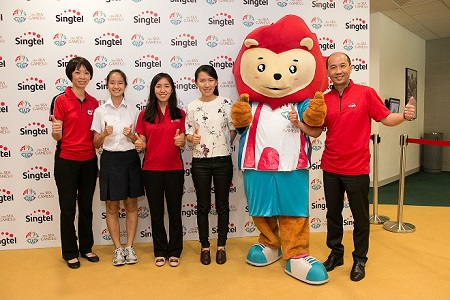 Singtel cheers for Team Singapore