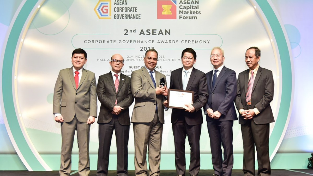 Thaicom receives ASEAN Corporate Governance Awards for the 2nd Consecutive Time