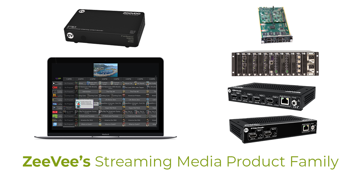 ZeeVee's streaming video solutions support a wide range of industry applications