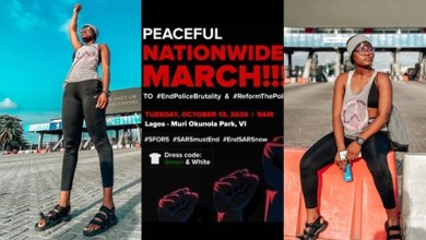 BBNaija star Alex Unusual on Peaceful Nationwide March Today 13th October 2020