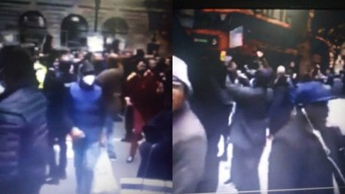 Photo of Watch as Nigerians in UK protest, chant Buhari is dead (Video)