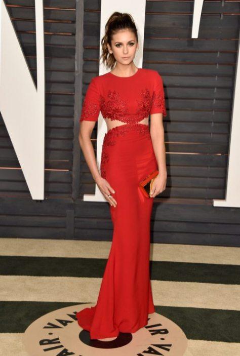 Nina Dobrev 2015 Vanity Fair Oscar Party 4