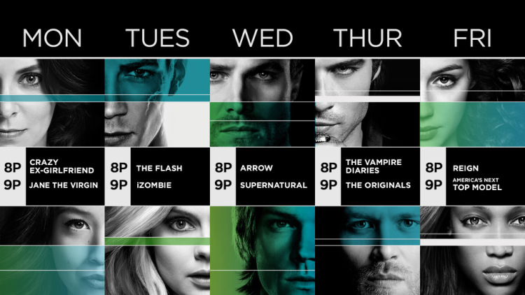 THE CW 2015 FALL SCHEDULE