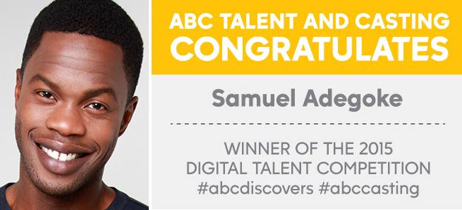 Congrats Samuel Adegoke Winner Of The 2015 ABC DISCOVERS DIGITAL TALENT COMPETITION