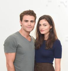 Frame Denim Show at NYFW - Phoebe Tonkin and Paul Wesley 4