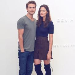 Frame Denim Show at NYFW - Phoebe Tonkin and Paul Wesley 5