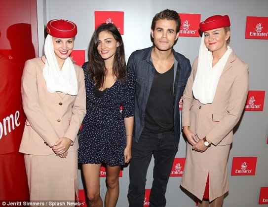 US Open - Paul Wesley and Phoebe Tonkin 12