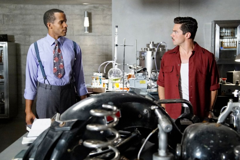 "Agent Carter 2x03 ""Better Angels"" -- Pictured -- Reggie Austin as Dr. Jason Wilkes and Dominic Cooper as Howard Stark"