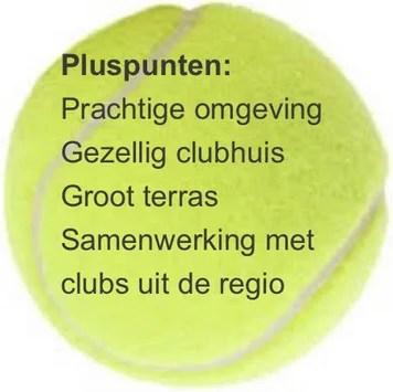 tennisbal met tekst