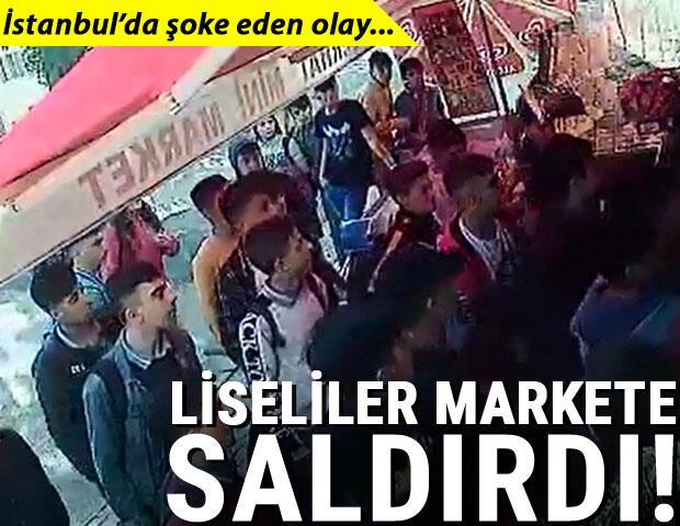 Liseli öğrenciler kız arkadaşlarına mesaj atan marketçiye saldırdı!