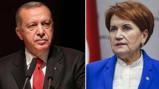 Cumhurbaşkanı Erdoğan, Akşener ile telefonda görüştü