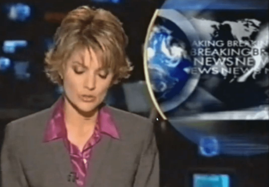 Sandra Sully, on-air as the new of 9/11 broke in Australia (image - 10)