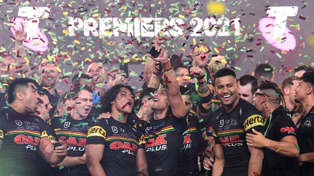 Pentrith Panthers NRL Premiers 2021 (image - Nine)