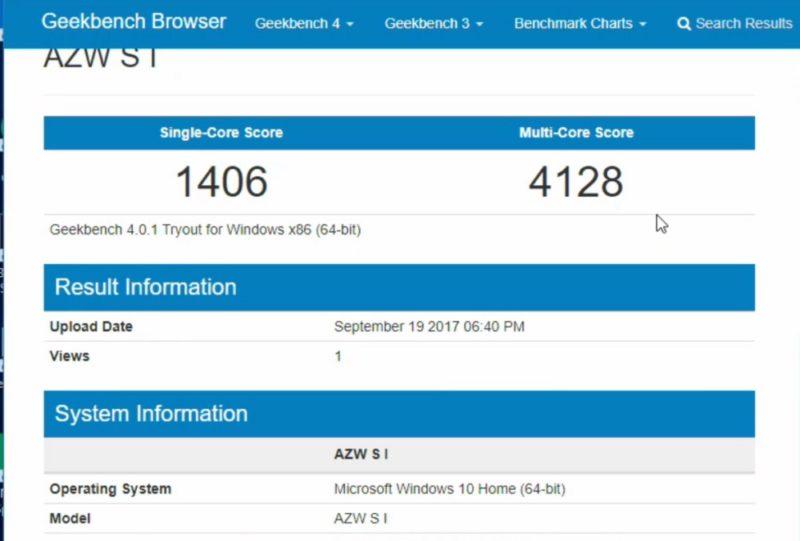 Beelink_S1Geekbench4_benchmark_score