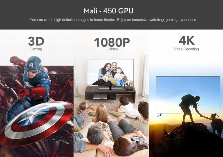 Tanix TX28 Mali 450 GPU