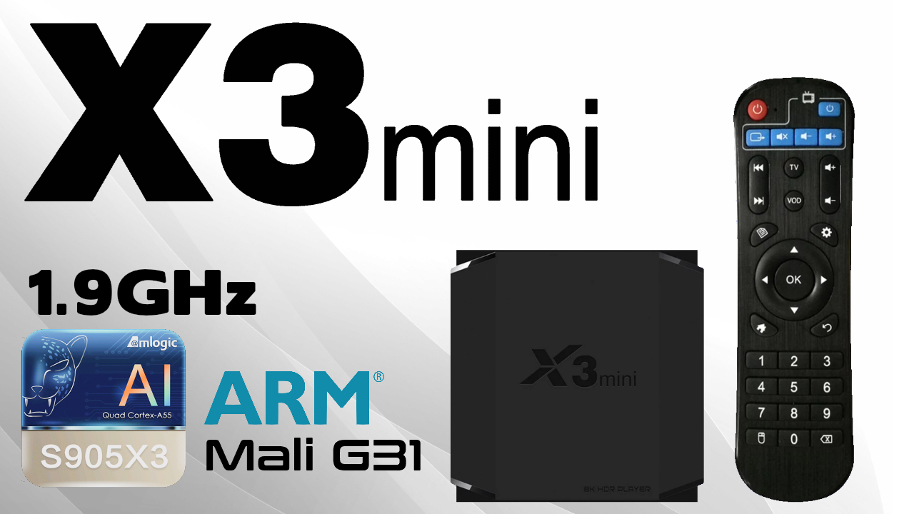 X3 Mini Amlogic S905X3 TV Box