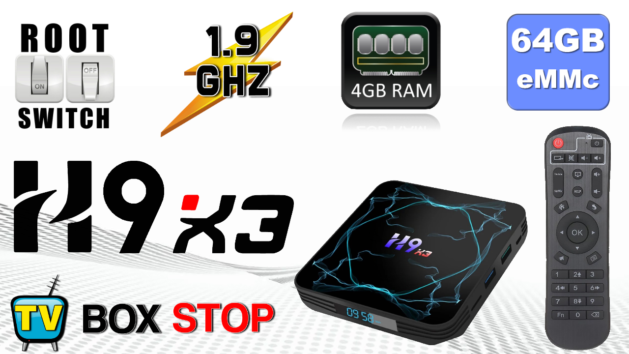 H9 X3 Amlogic S905X3 TV Box