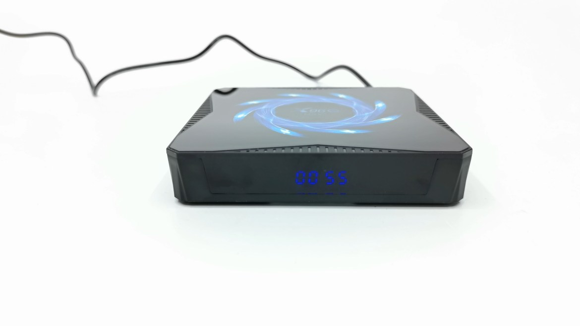 X96Q Max front LED clock display