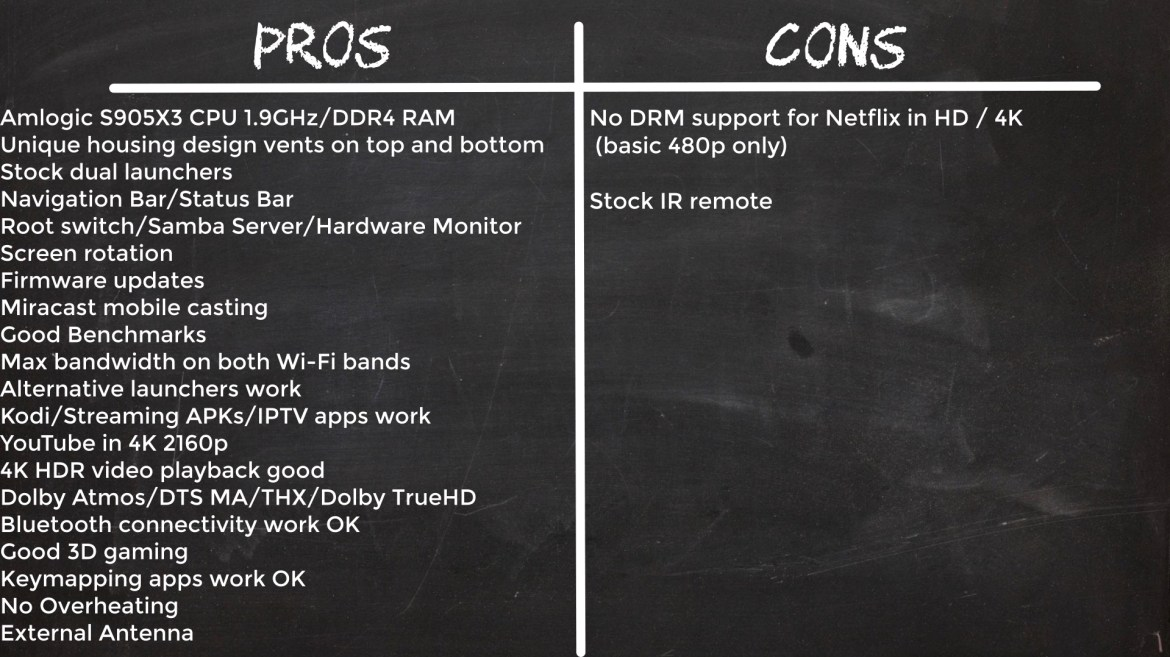 TOX1 TV Box Pros and Cons
