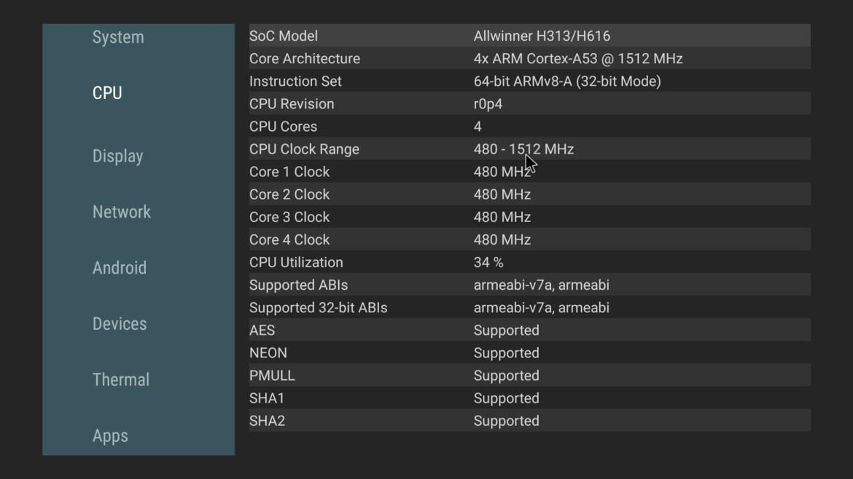 X96 Mate CPU info