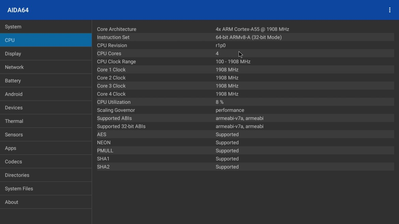 R TV Box X10 Max CPU info
