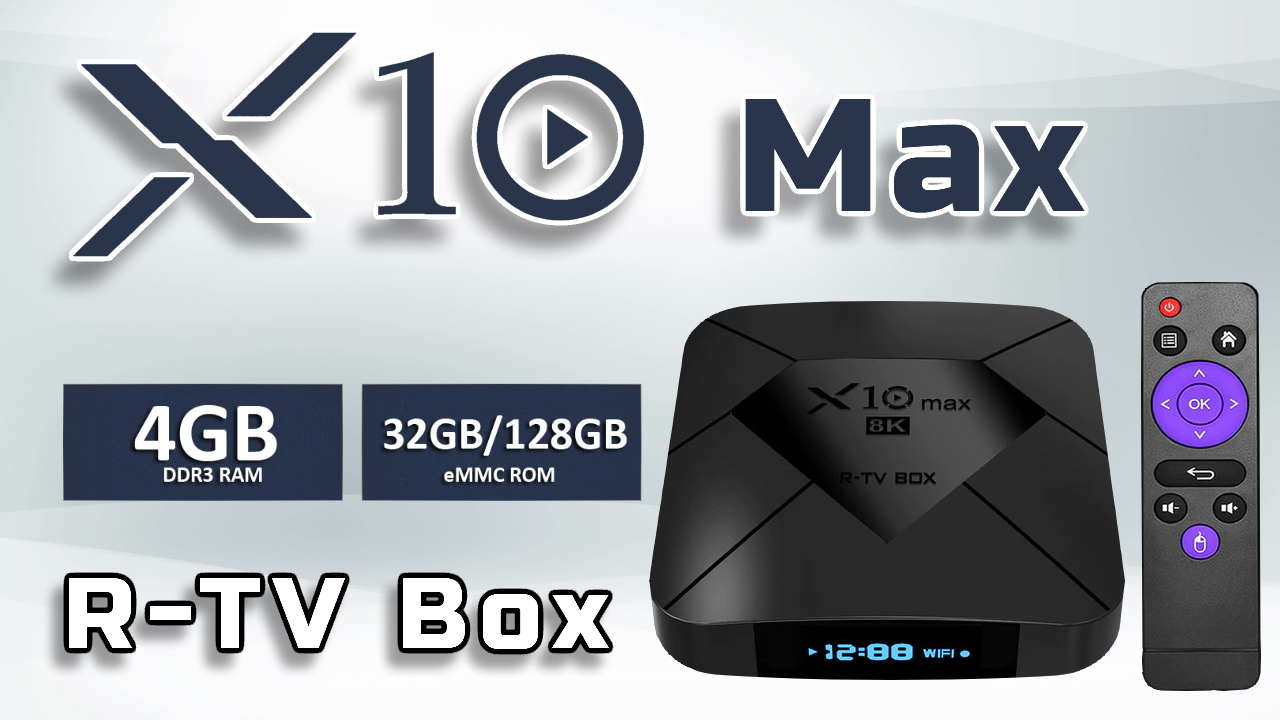 R TV Box X10 Max banner