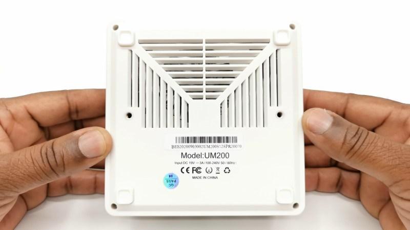 Minisforum UM200 Mini PC bottom vents