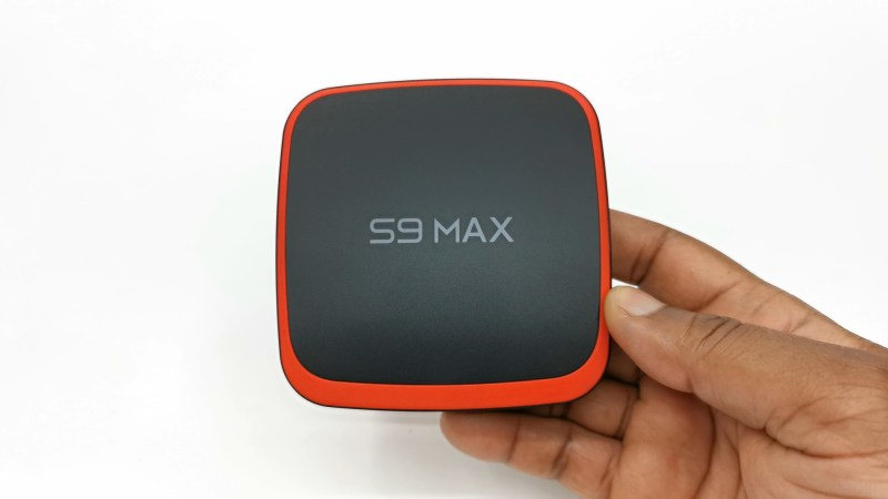 S9 Max TV Box top view
