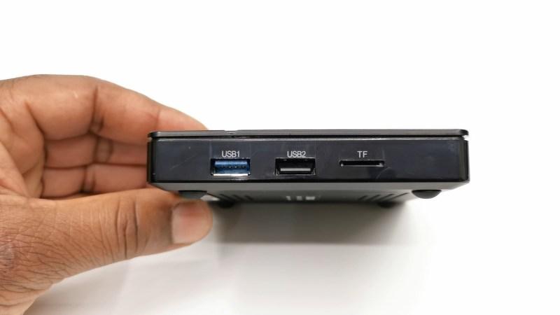 X3 Max TV box side USB ports