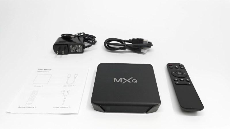 MXQ G10X3 in the box