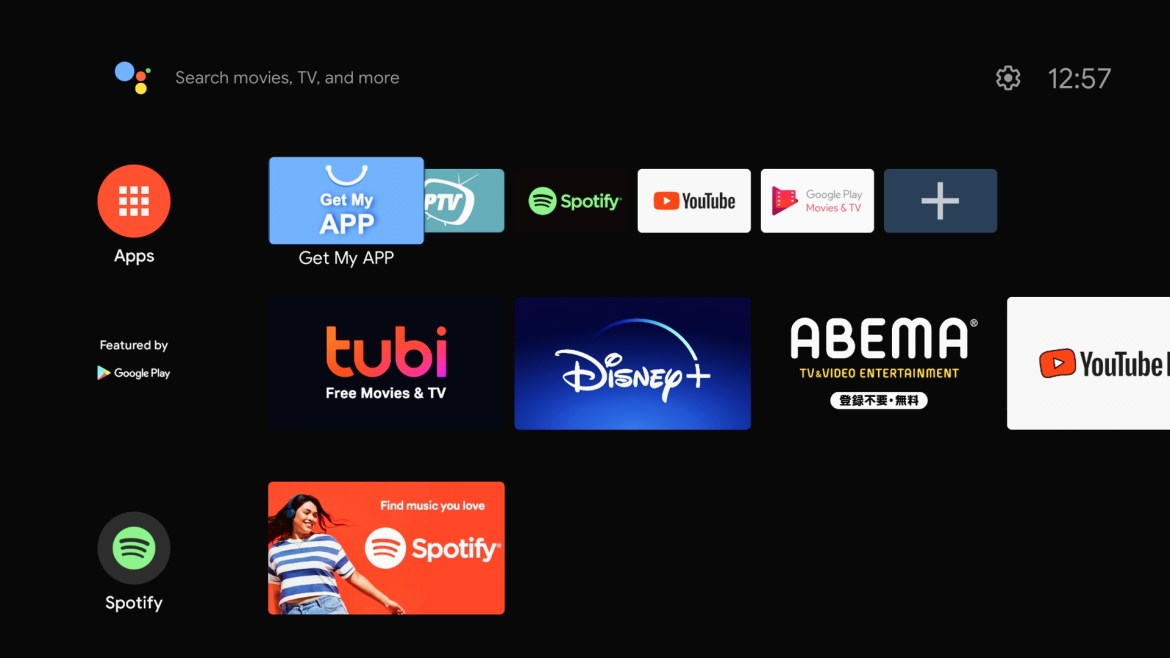 Mecool KD1 Android TV OS Launcher