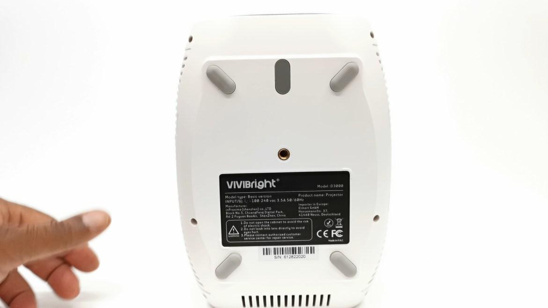 Vivibright D3000 bottom view