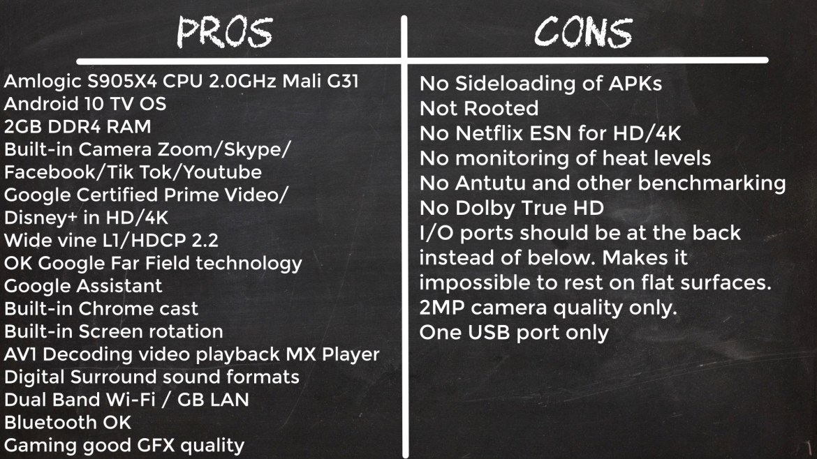 Mecool KA2 Now pros and cons