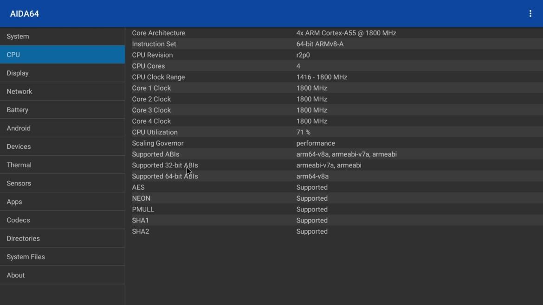 H96 Max RK3566 CPU info