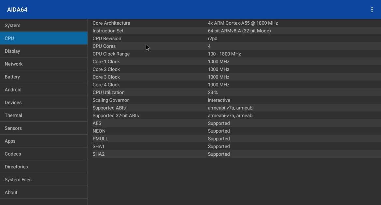 X4 Pro CPU info
