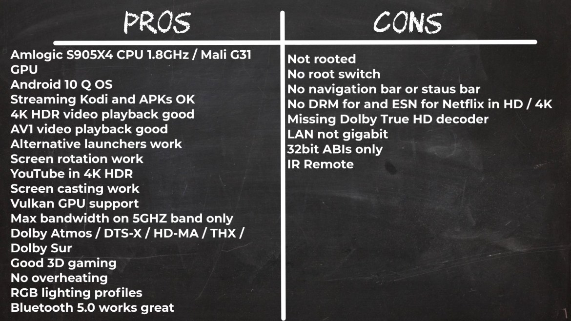 X4 Pro TV Box pros and cons