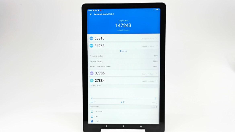 Vastking Kingpad M10 Tablet Antutu benchmark