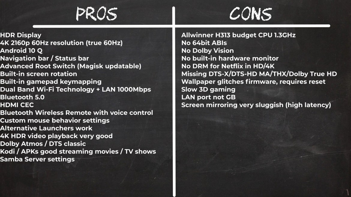 TOX2 TV Stick Pros and Cons