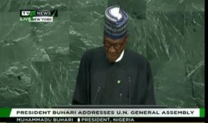 President Buhari -UN-TVC